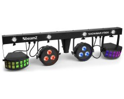 BeamZ Showbar Free 2x LED PAR, 2x Derby + Strobo