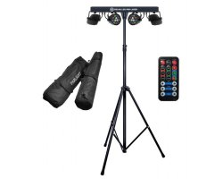 LIGHT4ME Beam LED PAR Laser lighting set