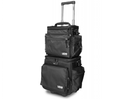 UDG Ultimate SlingBag Trolley Set DeLuxe Black, Orange Inside