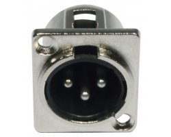 Accu Cable AC-C-XM3 XLR 3pin male panel metal