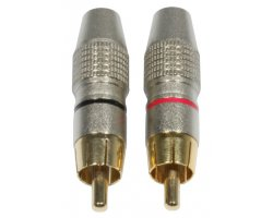 Accu Cable AC-C-RMG/SET RCA Cinch plug male gold