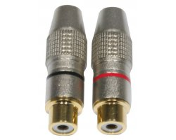 Accu Cable AC-C-RFG/SET RCA Cinch plug female gold