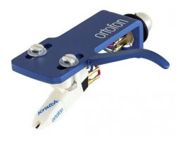 Ortofon OM Scratch white + SH-4 blue Headshell