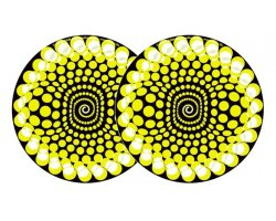 Zomo Slipmats Balls Yellow