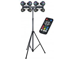 LIGHT4ME LED Beam OCTO PAR Flower SET