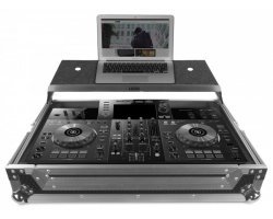 UDG Ultimate Flight Case Pioneer XDJ-RR Silver Plus (Laptop shelf)